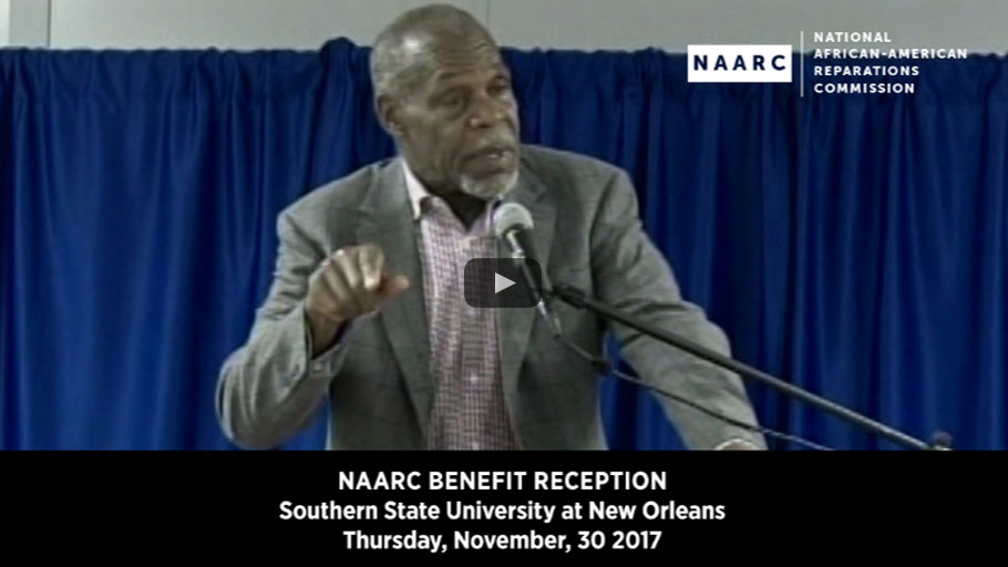 Danny Glover's Keynote Speech — National African American Reparations Commission's Benefit Reception
