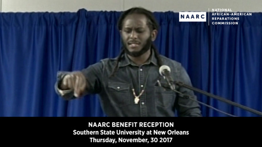 Michael Quess Moore, Spoken Word Performance at NAARC Benefit Reception