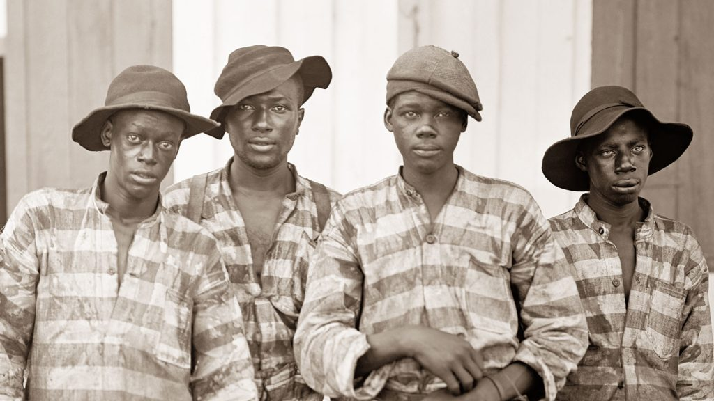 A Southern chain gang c1903