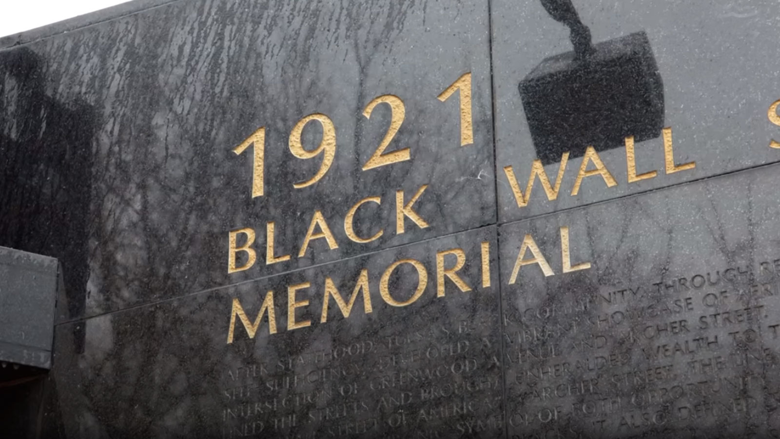 Black Wall Street Memorial Wall