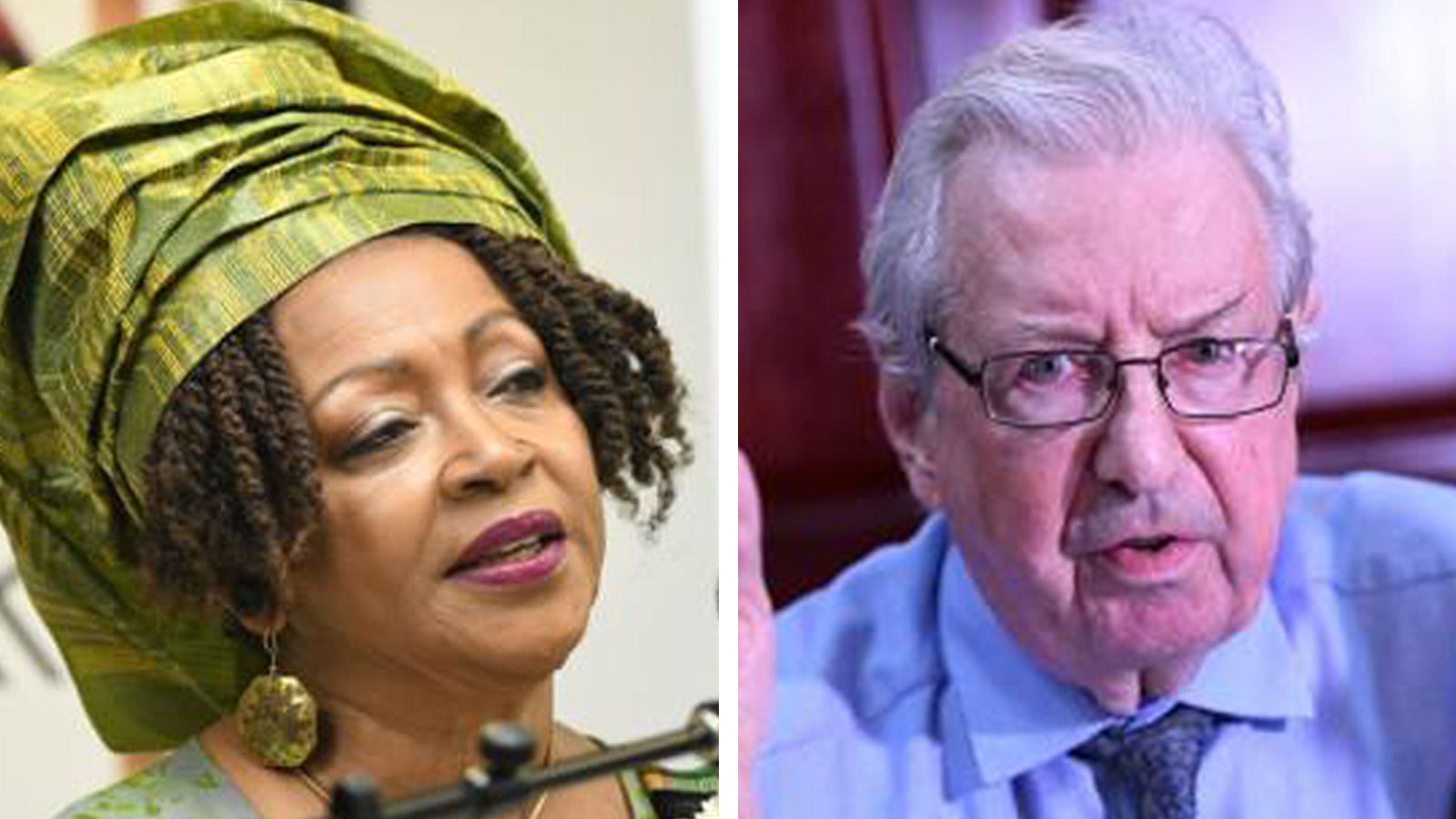 Professor Verene Shepherd and British-Jamaican Lord Anthony Gifford
