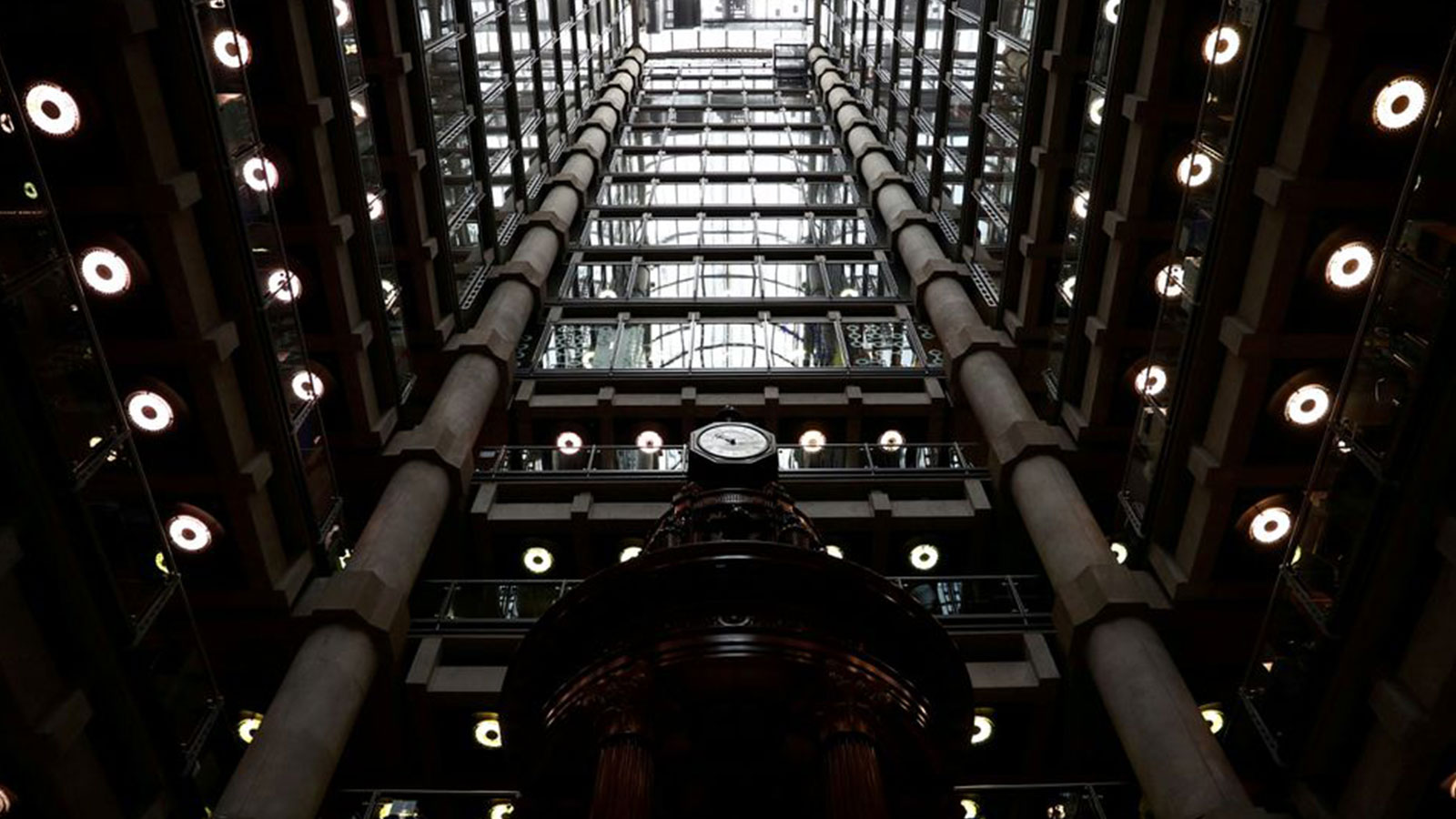 The interior of the Lloyd's of London building is seen in the City of London financial district in London, Britain, April 16, 2019.